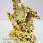 ตุ๊กตาเรซิ่นตั้งโชว์ตกแต่งบ้าน รูปม้าทองคู่เสริมดวง