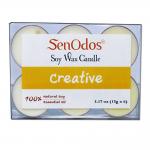 SenOdos Emotional Scented Soy Candles Aroma Creative เทียนหอมอโรม่า (แพ็ค 6 ชิ้น)
