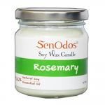 SenOdos เทียนหอม อโรม่า Rosemary Scented Soy Candle Aroma 190 g. (กลิ่นโรสแมรี่แท้)