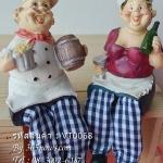 ตุ๊กตาห้อยขาเรซิ่นตกแต่งบ้าน เซตพ่อครัวแม่ครัว