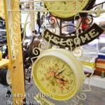 นาฬิกาวินเทจแต่งบ้าน Welcome สไตล์โบราณเก๋ๆสีขาว
