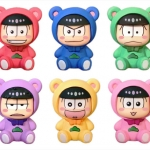 "Pulish - ""Osomatsu-san"" Trading Mini Figure Strap KumaMatsu ver. 6Pack BOX(Pre-order)"