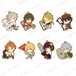 TV Anime Bungo Stray Dogs - PitaColle Rubber Strap WHITE 8Pack BOX(Pre-order)
