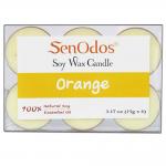 SenOdos เทียนหอม อโรม่า Tealight Set Orange Scented Soy Candles Aroma กลิ่นส้มแท้ 15 g. (6 PCS)