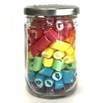 Large Jar of Colorful Kisses (160g. Jar)