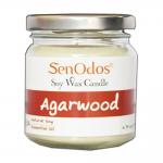SenOdos เทียนหอม อโรม่า Agarwood Scented Soy Candle Aroma 190 g. (กลิ่นไม้หอมกฤษณาแท้)