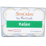 SenOdos กลิ่นสงบพักผ่อน Soy Candles Aroma Relax เทียนหอมอโรม่า (แพ็ค 6 ชิ้น)