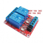 Relay Module 24V 2 Channel isolation High And Low Trigger 250V/10A