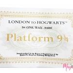 ผ้าขนหนูตั๋วรถไฟฮอกวอตส์ Platform934
