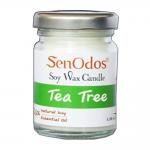 SenOdos เทียนหอม อโรม่า Tea Tree Scented Soy Candle Aroma 45 g. กลิ่นทีทรีออยล์แท้