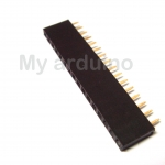 2.54mm 1X16 16Pin Gold-plated Single Row Straight Female Pin Header