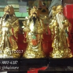 ของมงคลแต่งบ้านเรซิ่น ชุด 3 เซียน เทพเจ้าฮก ลก ซิ่ว สีทอง