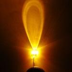 LEDหลอดใส สีเหลือง ขนาด5mm จำนวน5ดวง