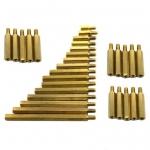 น็อตทองเหลือง M3 10+6mm จำนวน 5 ชิ้น