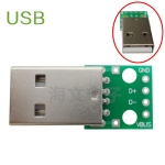 USB Male to Dip 2.54mm 4p