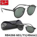 แว่นกันแดด RayBan Tech RB4266 601/71 size 49mm กรอบดำ เลนส์ดำเขียว classic