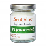 SenOdos เทียนหอม อโรม่า Peppermint Scented Soy Candle Aroma 45 g. - กลิ่นเปปเปอร์มินต์แท้