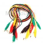 คลิปหนีบสายไฟ Cable Wire Crocodile Clips 50cm คละสี จำนวน 10 เส้น