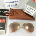 แว่นกันแดด RayBan Aviator rb3025 001/3E pinkgold ชมพูไล่เฉด รุ่นอั้มใส่