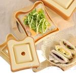 อุปกรณ์ทำแซนวิชปิดขอบ รูปสี่เหลี่ยม อุปกรณ์แบบกล่องรูปขนมปัง