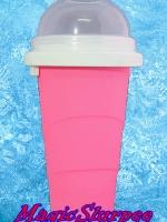 แก้วทำสเลอปี้ สีชมพู