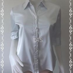 jp4275-เสื้อเชิ้ต นำเข้า สีขาวอมฟ้าอ่อนๆ อก 35 นิ้ว