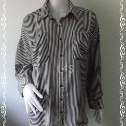 jp4338-เสื้อเชิ้ต แฟชั่น นำเข้า อก 46 นิ้ว