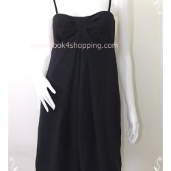 Dress0107-เดรสแฟชั่น นำเข้า สีดำ callas อก 32 นิ้ว