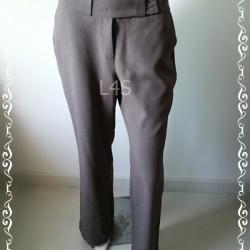 TR0040-กางเกงผ้า มือสอง สีน้ำตาล เอว 30 นิ้ว