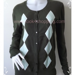"""BNK0167--เสื้อคลุมนิตติ้ง สีเขียวแบรนด์ MERONA """"อก 37-40 นิ้ว"""""""