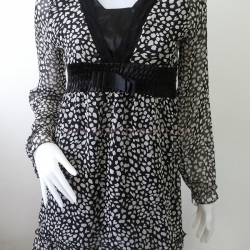 """Dress0535--เดรสแฟชั่น ชีฟอง สวยๆ """"อก 32-34 นิ้ว"""""""