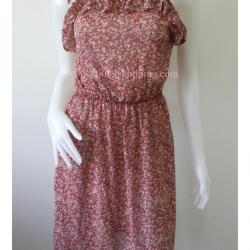 """Dress0681--เดรสแฟชั่น ชีฟอง สวยๆ """"อก30-36 นิ้ว"""""""