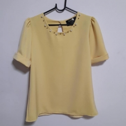 NEW--เสื้อเหลือง แฟชั่นของใหม่ อก 38 นิ้ว