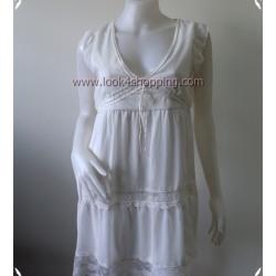 """Dress0391--เดรสแฟชั่น ชีฟอง สีขาว SEFLAYER 'อก 33-35 นิ้ว"""""""