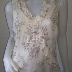 """jp3763-เสื้อแฟชั่น silk สีครีม KATE HILL 'อก 36-42 นิ้ว"""""""