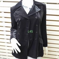 jp4652 เสื้อคลุม กำมะหยี่ สีกรมท่า อก 34 นิ้ว