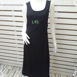 VJP5052--เดรสแฟชั่น งานนำเข้า สีดำ อก 30-32 นิ้ว