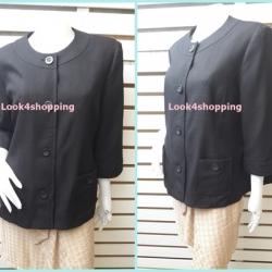 เสื้อคลุม นำเข้า สีดำ แบรนด์ alfred dunner อก 44 นิ้ว
