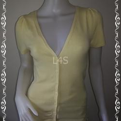 "jp4021-เสื้อคลุมนิตติ้ง สีเหลือง IN ROSE 'อก 32-34 นิ้ว"""
