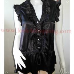 jp3433 -เสื้อแฟชั่น นำเข้า สีดำ อก 33 นิ้ว