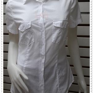 BN4772--เสื้อเชิ้ต แฟชั่น สีขาว แบรนด์เนม H&M อก 35 นิ้ว