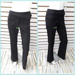 BNB1535- กางเกงผ้า นำเข้า สีดำ แบรนด์เนม MNG อก 27 นิ้ว