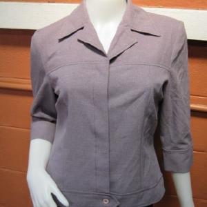 """BNJ0042 --เสื้อเชิ้ต แขนสามส่วน สีม่วง Stephanie """"อก 37 นิ้ว"""""""