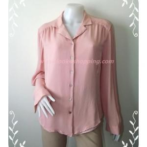 เสื้อเชิ้ต มือสอง สีชมพู LIZ CLAIBORNE อก 41 นิ้ว