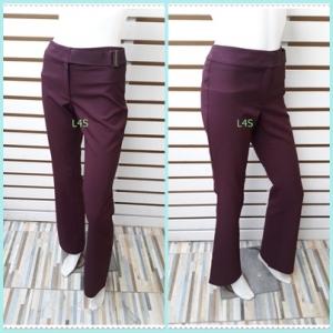BNB1548-กางเกงผ้า สีม่วง แบรนด์เนม MNG เอว 26 นิ้ว