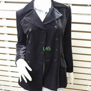 jp4652เสื้อคลุม กำมะหยี่ สีกรมท่า อก 34 นิ้ว
