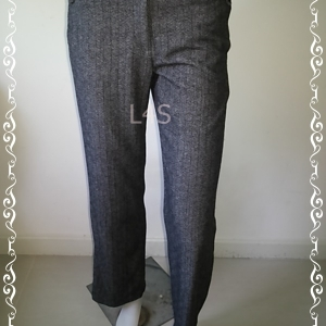 BNB1334--WE กางเกงผ้า มือสอง แบรนด์เนม F&Q WOMAN เอว 30 นิ้ว
