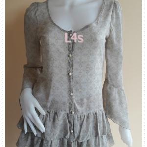 jp5207--เสื้อแฟชั่น ชีฟอง นำเข้า อก 32 นิ้ว