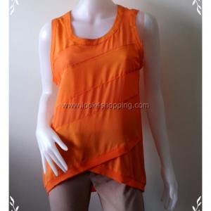 fashion0008--ของใหม่ เสื้อแฟชั่น สีส้ม แบรนด์เนม naked zebra อก 36 นิ้ว