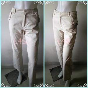 BNB1464-กางเกงผ้า สีครีมกากี Pooh Disney เอว 26 นิ้ว